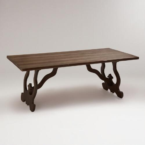 Weathered Gray Romeo Dining Table