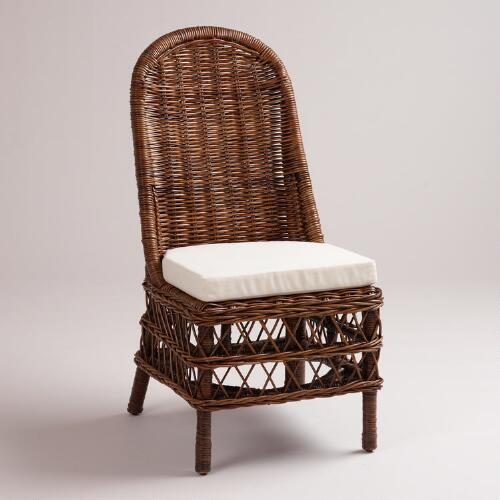 Dark Rattan Jayden Woven Chairs, Set of 2