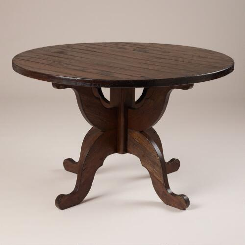Espresso Romeo Round Dining Table