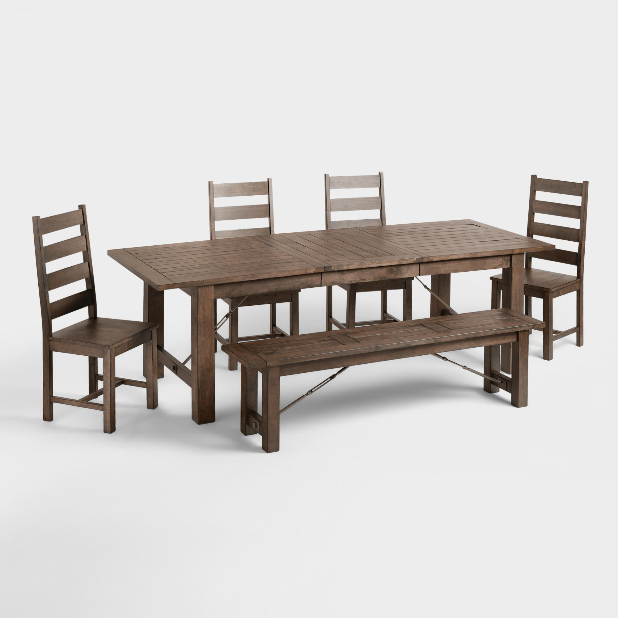 Garner dining collection world market for Dining table table and chairs