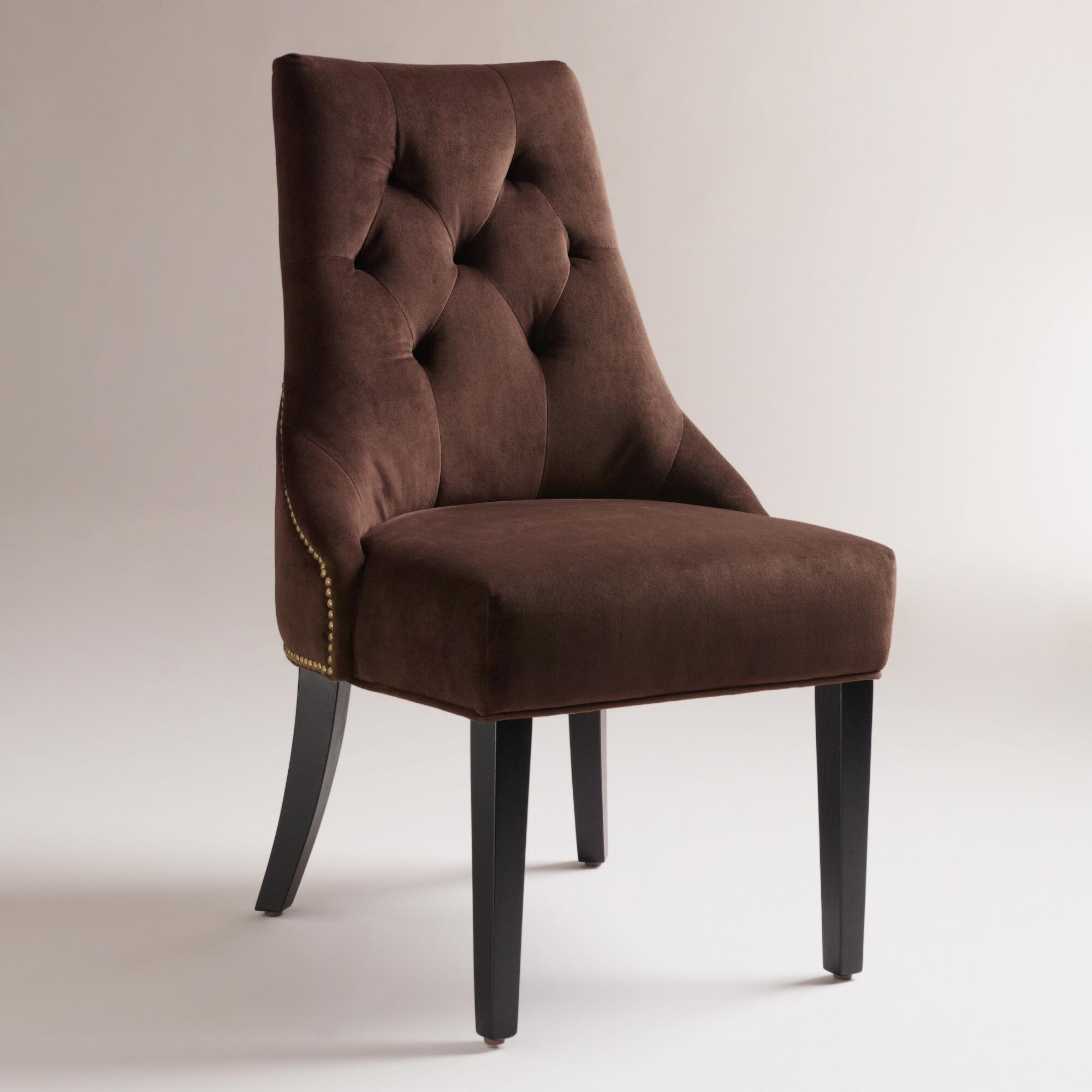 Chocolate Lydia Dining Chairs, Set Of 2