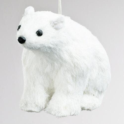 Natural Fiber Polar Bear Ornament