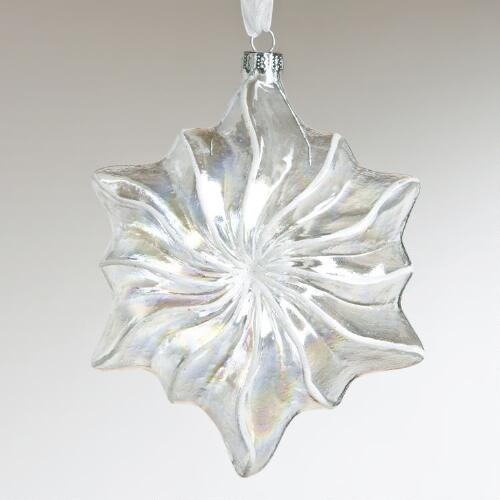 Clear Glass Starburst Ornament