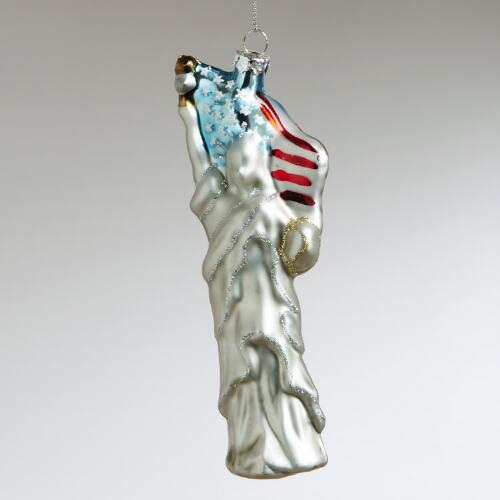 Glass Statue of Liberty Ornament
