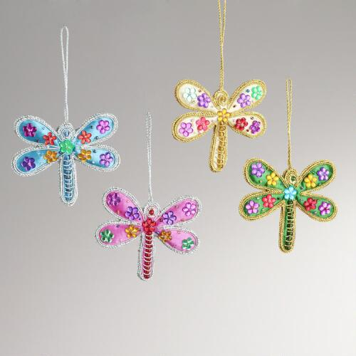 Dragonfly Ornaments, Set of 4