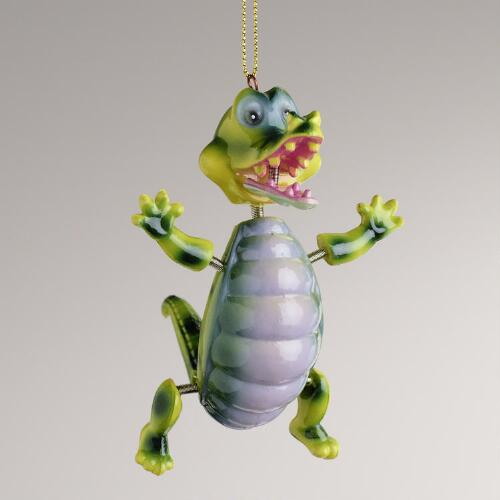 Jiggling Alligator Ornament