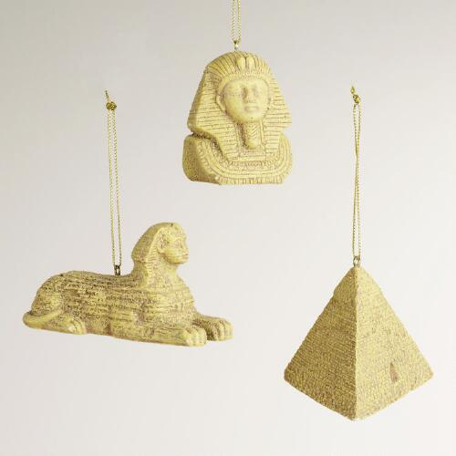 Egyptian Icon Ornaments, Set of 3
