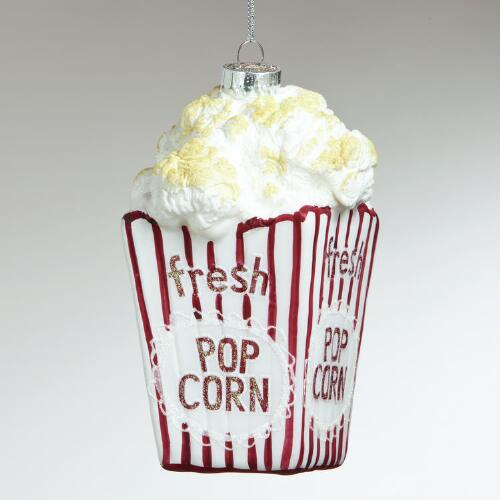 Glass Popcorn Ornament
