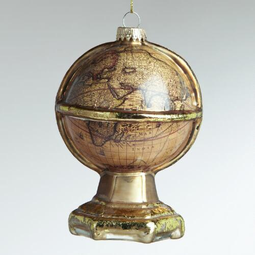Glass Old World Globe Ornament