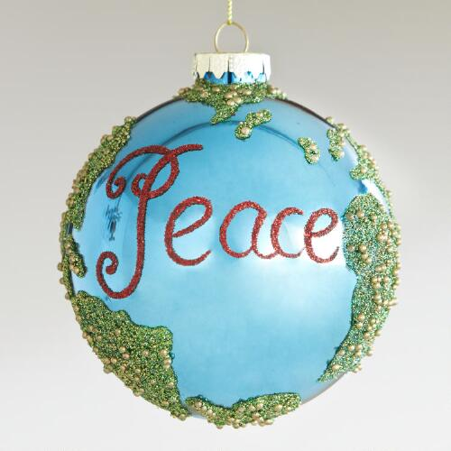 Glass Earth Globe Ornament