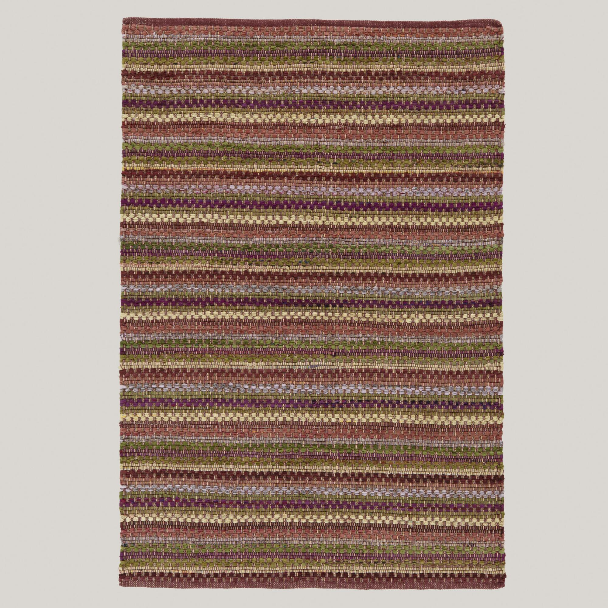 4'x6' Plum Napa Chindi Rug