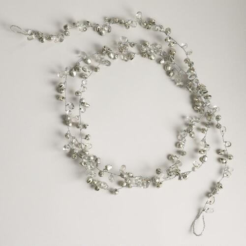 Silver Bell and Bead Garland