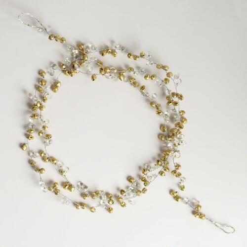 Gold Bell and Bead Garland