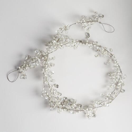 Pearl and Clear Glass Bead Garland