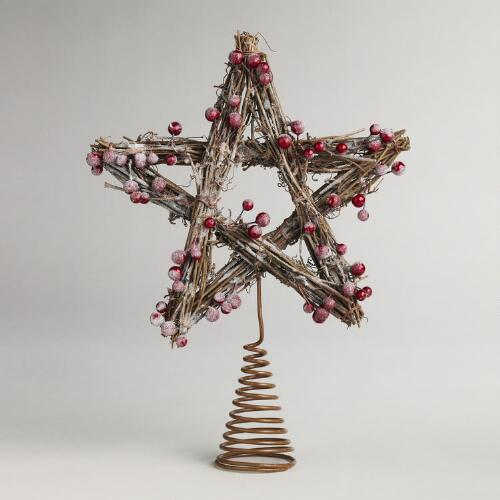 Iced Berry Twig Tree Topper