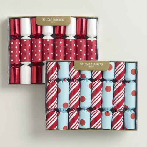 Boxed Dots and Stripes Crackers