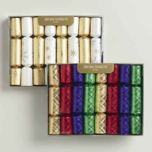 Boxed Multicolor and Snow Foil Crackers