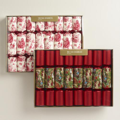 Boxed Toile Vintage Crackers