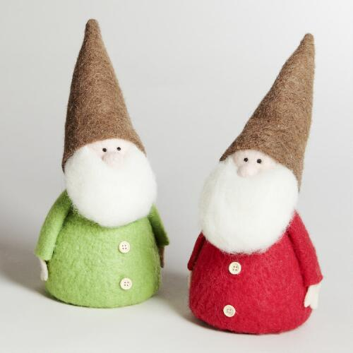 Large Felt Gnome, Set of 2
