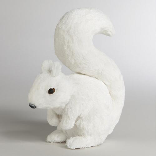 Natural Fiber Glitter Squirrel