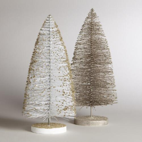 Bottlebrush Trees, Set of 2