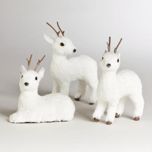 Natural Fiber Deer, Set of 3
