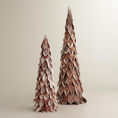 Brown Paper Glitter Trees