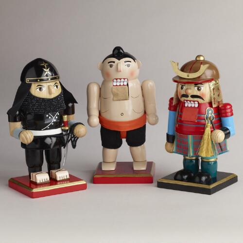 Asian Chubby Nutcrackers, Set of 3