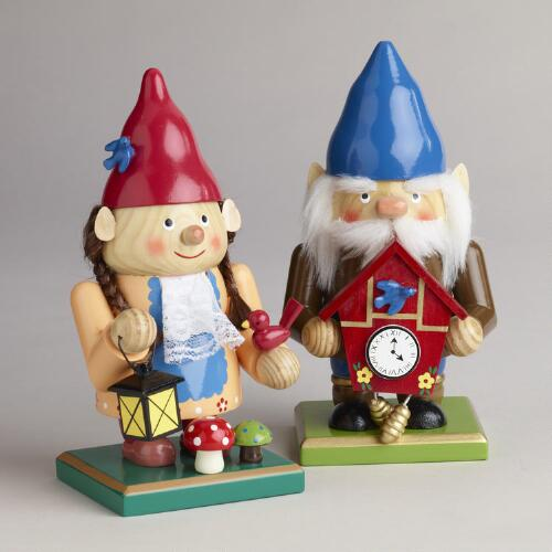 2012 Gnome Chubby Nutcrackers, Set of 2