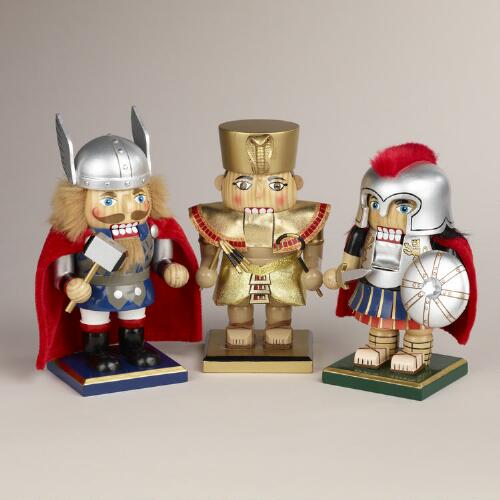 Ancient Cultures Chubby Nutcrackers, Set of 3