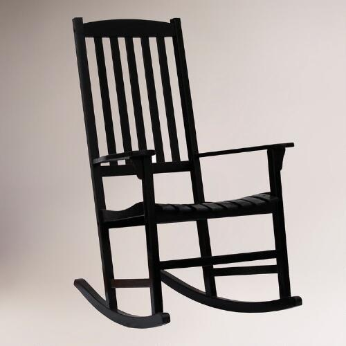 Black Porch Rocking Chair
