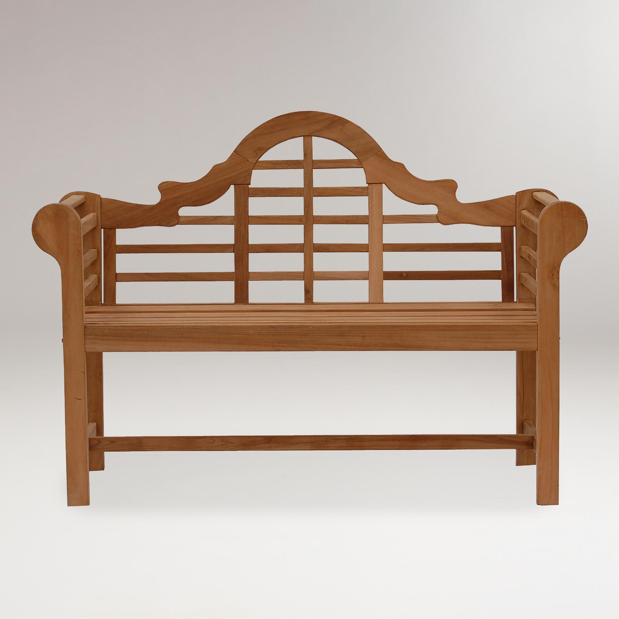 Lutyens Teak Bench World Market