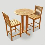 Teak 3-Piece Bar Set