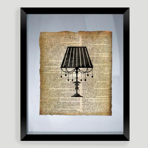 Lamp Print Wall Art