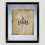Chandelier Print Wall Art