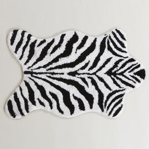 Zebra Shaped Bath Mat
