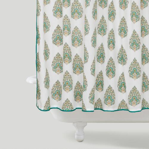 Peacock Bhuti Shower Curtain
