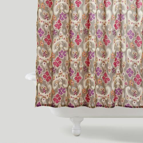 Sonoma Ikat Floral Shower Curtain