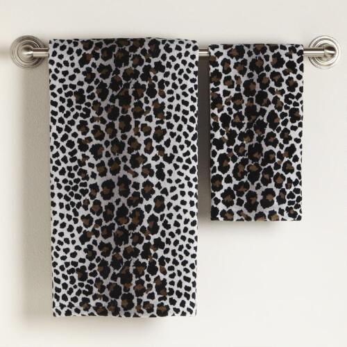 Snow Leopard Bath Towel Collection
