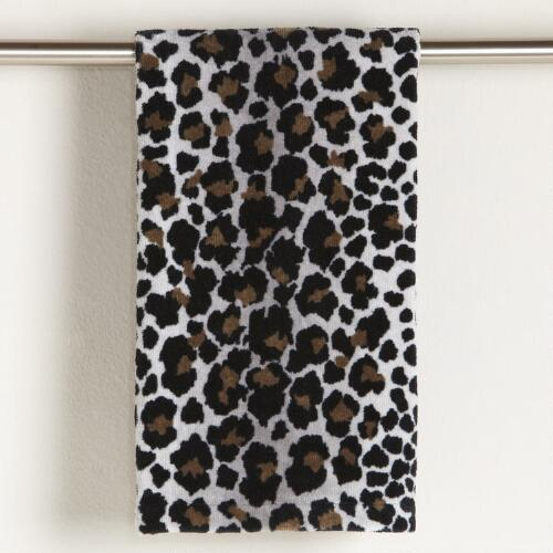 Snow Leopard Printed Hand Towel