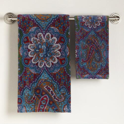 Rialto Paisley Bath Towel Collection