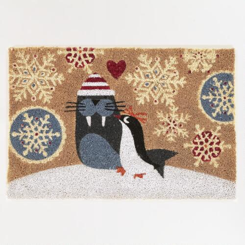 Walrus and Penguin Doormat