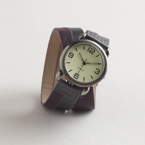 Purple Metallic Wrap Watch
