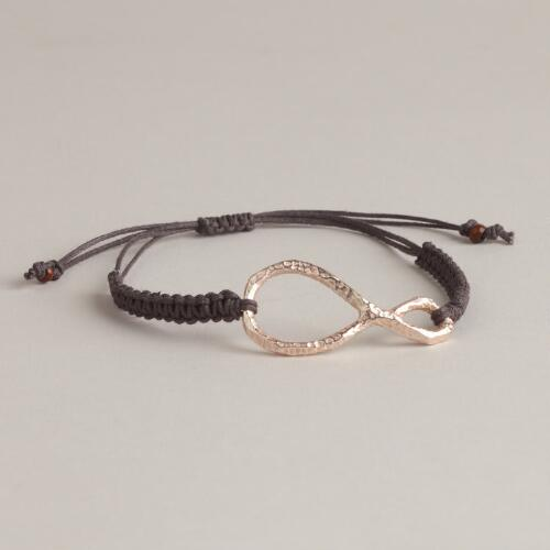 Rose Gold Knotted Friendship Bracelet