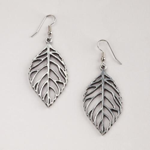 Open Leaf Drop Earrings