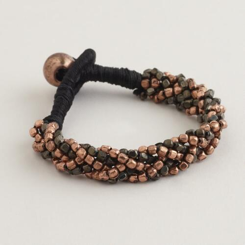 Copper and Gunmetal Friendship Bracelet