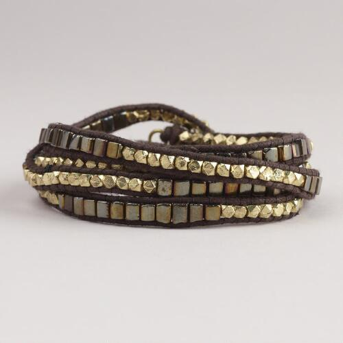 Metallic Gold Wrap Bracelet