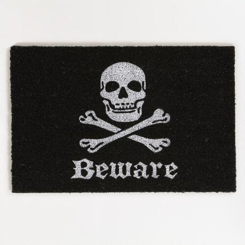 Skull and Bones Halloween Doormat