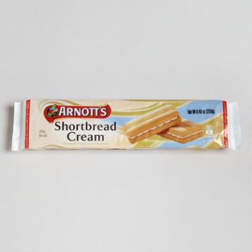 Arnott's Vanilla Cream Shortbread Cookies, Set of 4