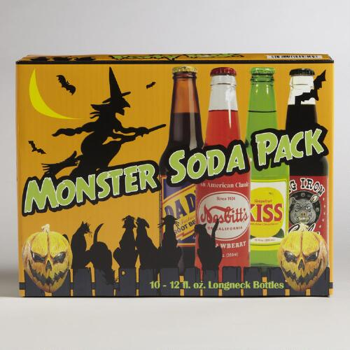Orca Halloween Monster Soda, 10-Pack